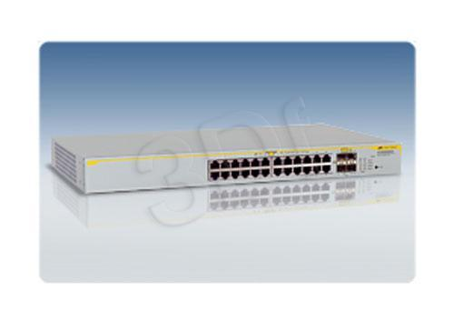 Allied Telesis L2 (AT-8000GS/24POE) L2 switch with 24-10/100/1000Base-T plus 4xSFP
