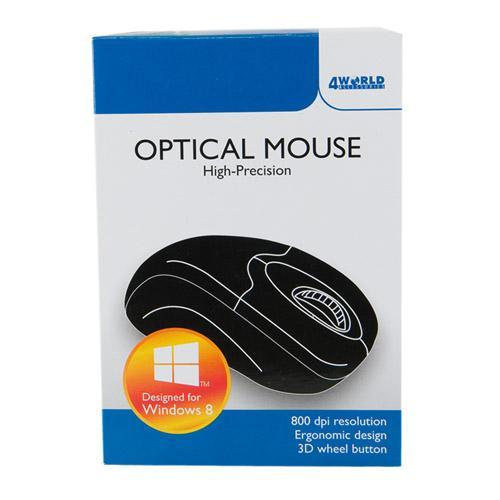4World Mysz optyczna BASIC2 USB 800dpi czarna