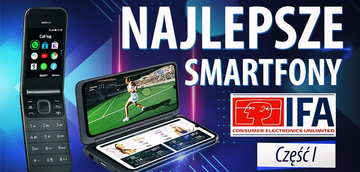 Smartfony z IFA 2019 - Sony, Nokia, Motorola, LG, Samsung