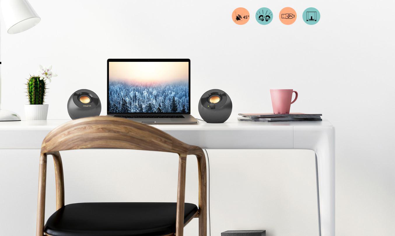 Design głośników Pebble Plus inspirowany jest Zen