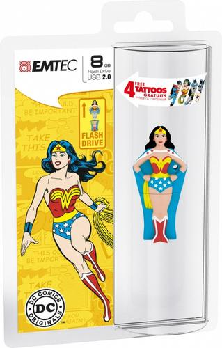 EMTEC Pendrive 8GB Super Heroes WONDERWOMAN SH101