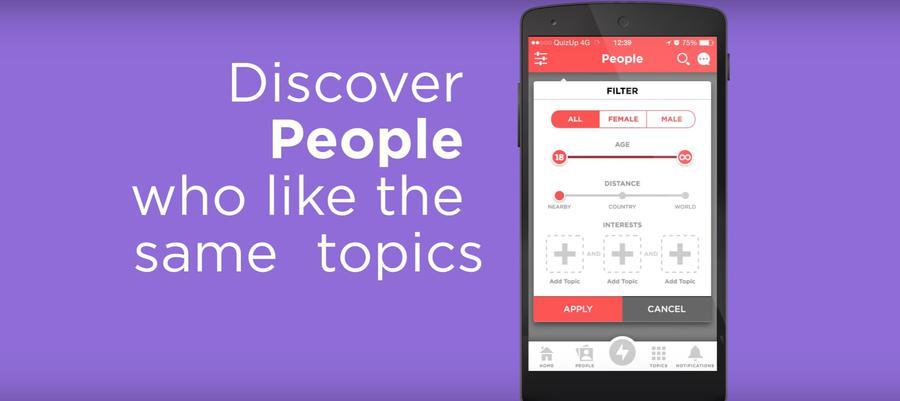 QuizUP pozwala na poznawanie ludzi o podobnych zainteresowaniach