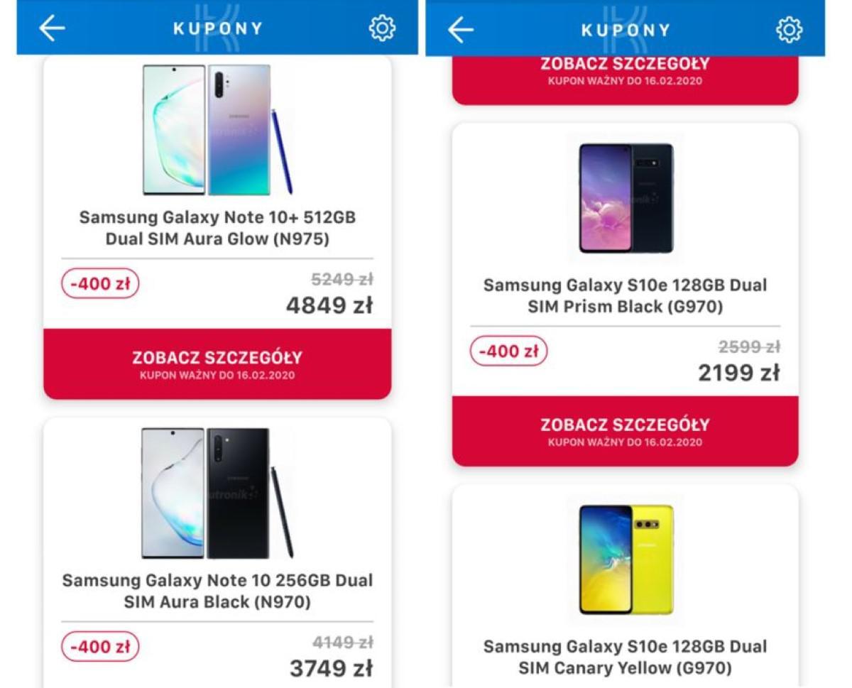 Kupony Komputronika w Aplikacji na urządzenia Samsunga