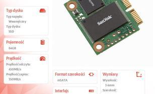 SanDisk SSD mSATA mini mPCIe MLC 64GB