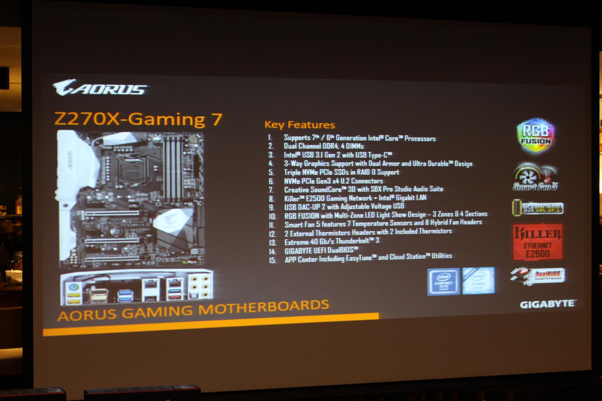 Aorus Z270X Gaming 7