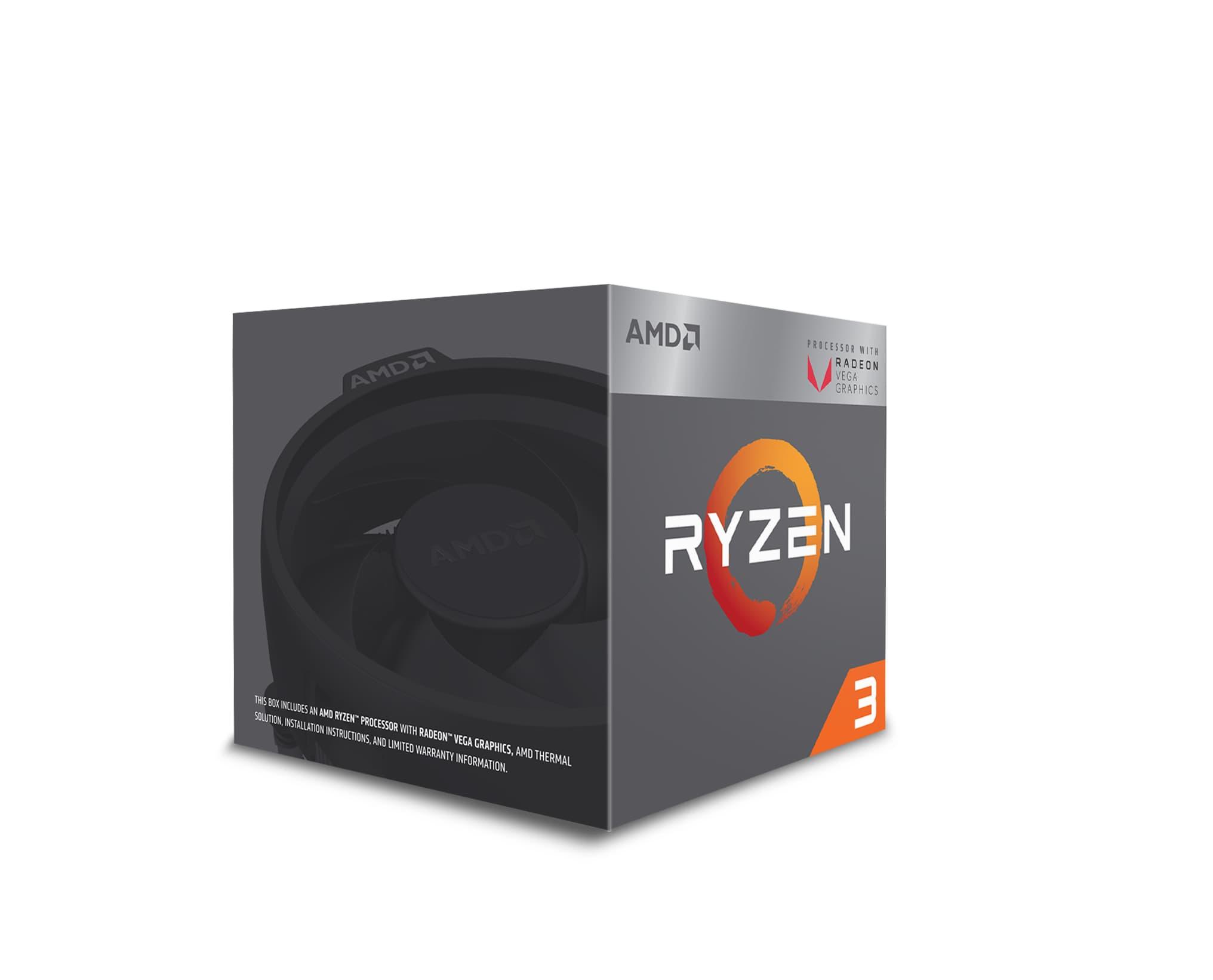 AMD Ryzen 3 2200G to bardzo wydajny procesor do komputera stacjonarnego.