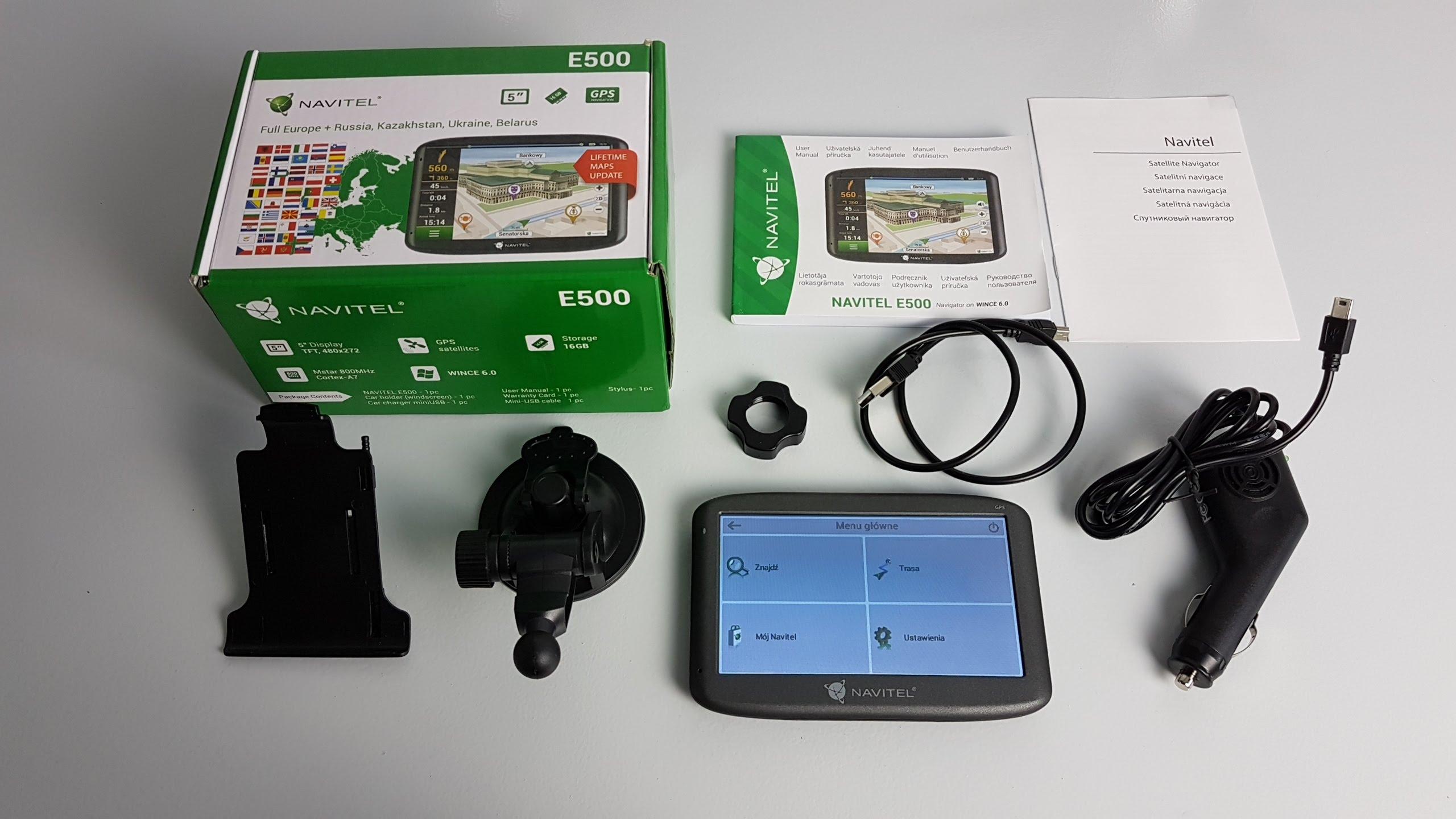 NAVITEL E500 zestaw