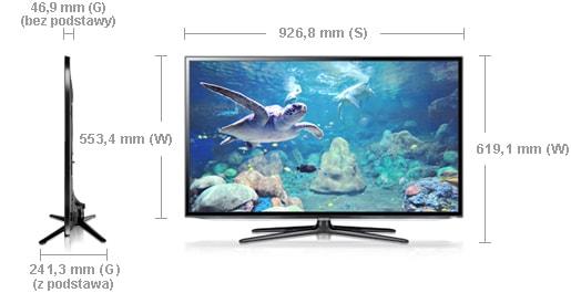 Samsung UE40ES6100 wymiary