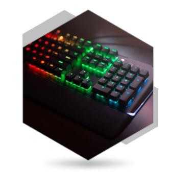 SPC Gear K550 podświetlenie.