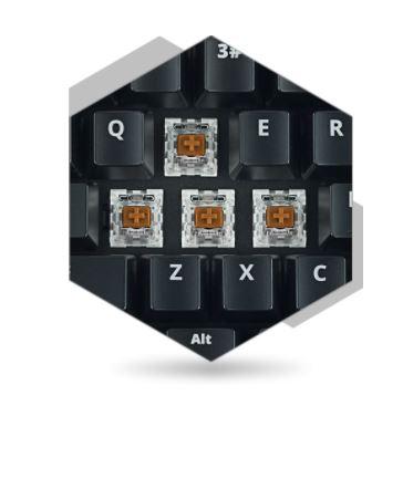 SPC Gear K550 przełączniki