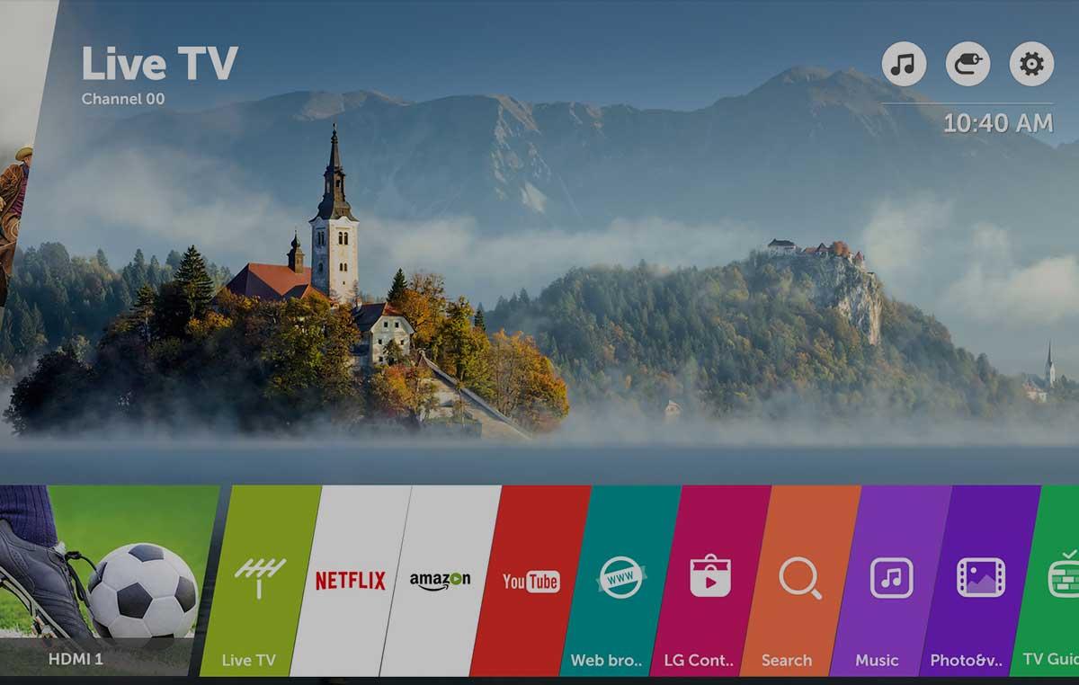 Obsługa i system webOS w LG OLED55B7V