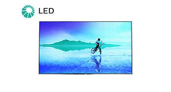 Telewizor LED zapewnia obraz o niewiarygodnym kontraście