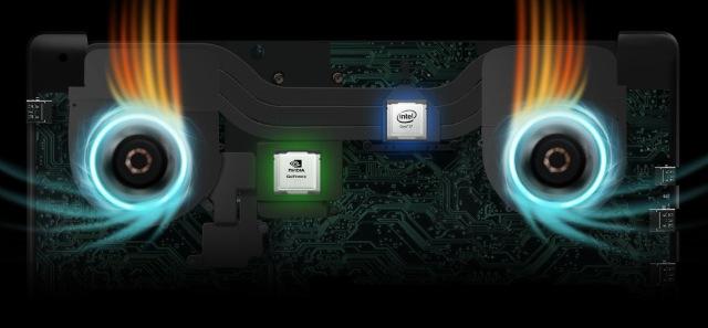 FX503 posiada zaawansowany system chłodzenia.