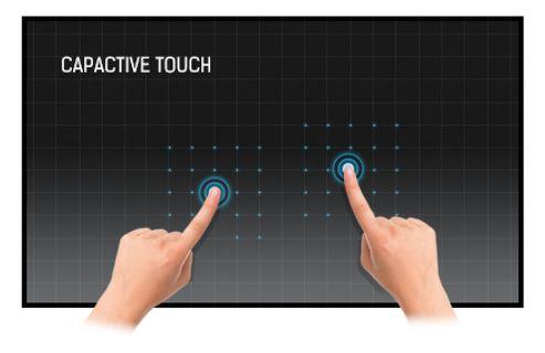 Monitor korzysta z dokładnej technologii dotykowej.