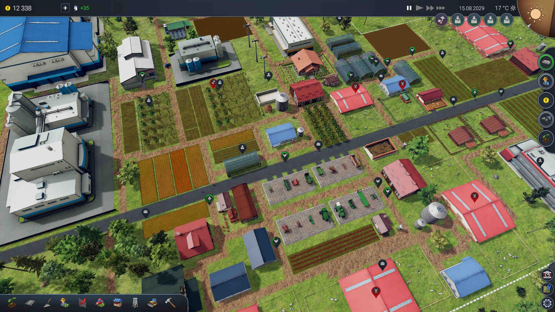 Farm Manager 2018 - Ekran główny gry