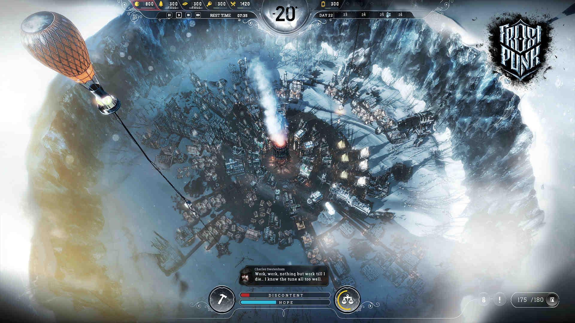 Frostpunk - Rozwijające się miasto