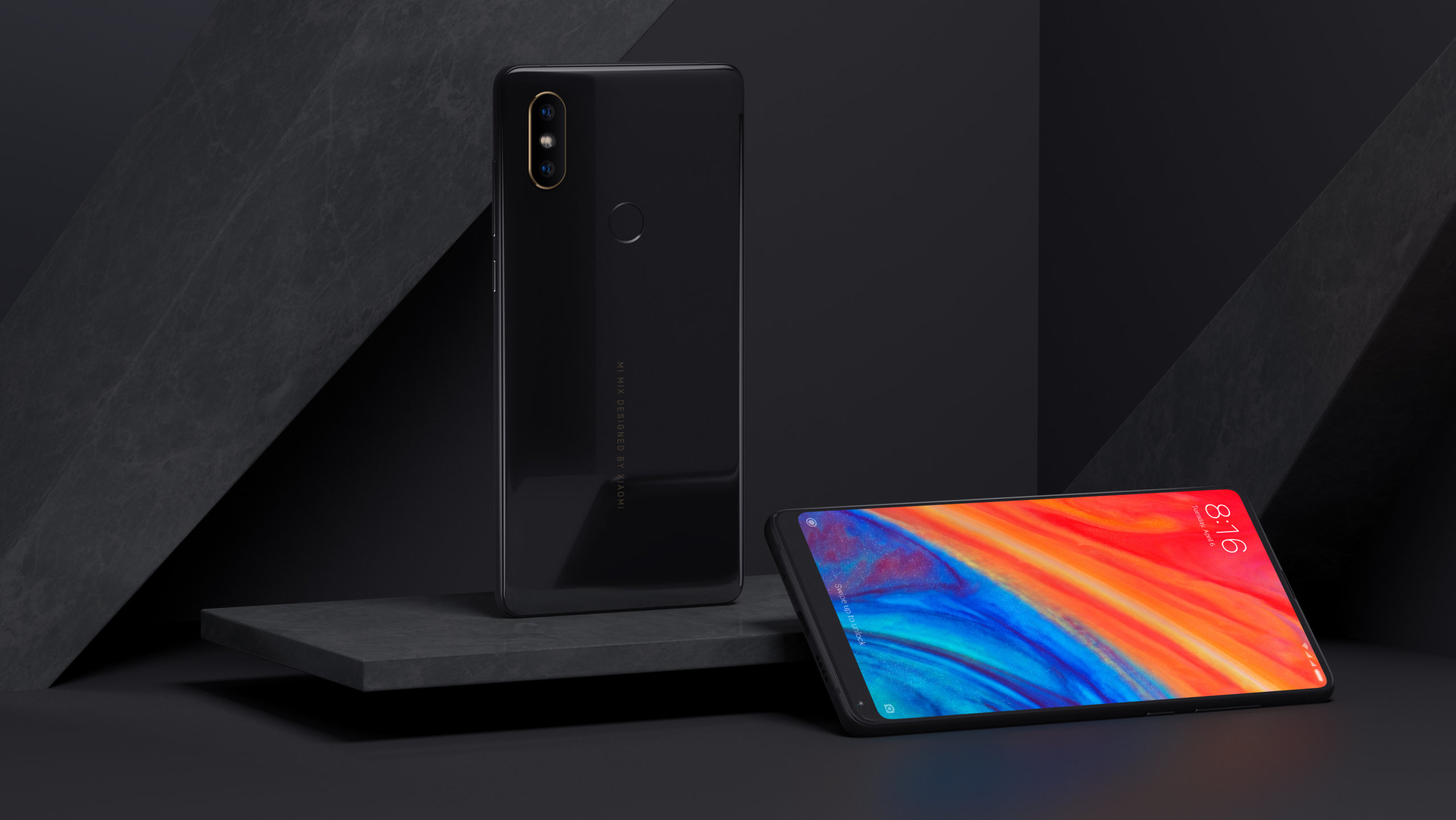 Xiaomi Mi Mix 2s wygląd przód i tył