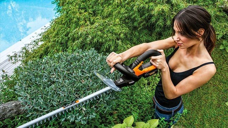 pielęgnacja ogrodu nożycami do żywopłotu