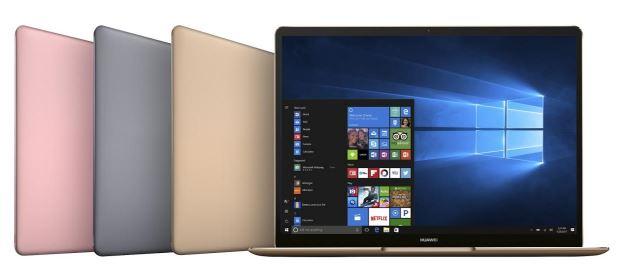 Nowe laptopy od Huawei są niezwykle lekkie.