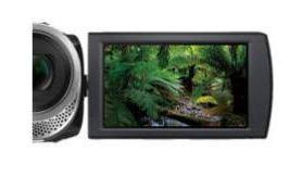 Duży, 3 calowy ekran LCD ułatwiający podgląd nagrywanego filmu oraz poruszanie się po menu kamery.