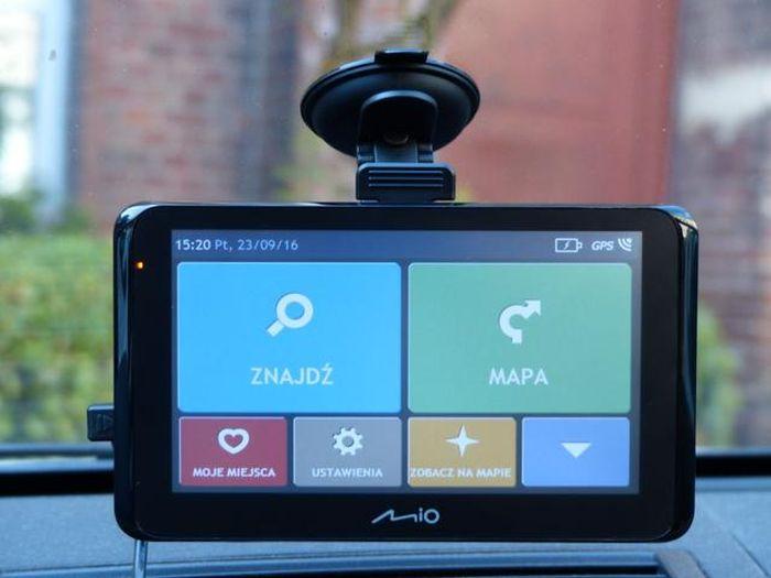 interfejs nawigacji gps firmy Mio