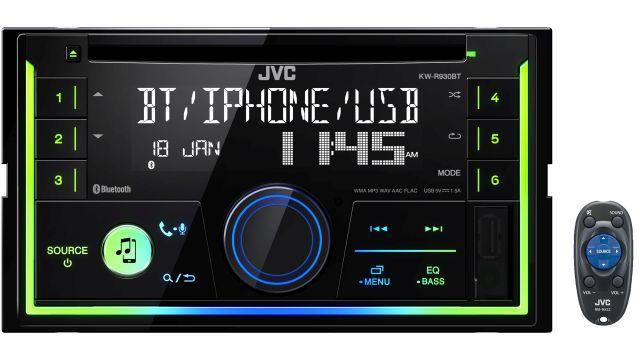 JVC KW-R930BT posiada wyświetlacz mogący odtworzyć blisko 800 kolorów