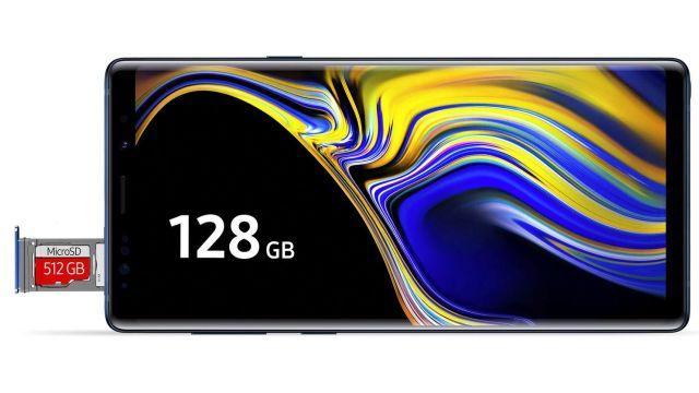 Samsung Galaxy Note 9 ma slot na drugą kartę SIM lub kartę microSD do 512 GB