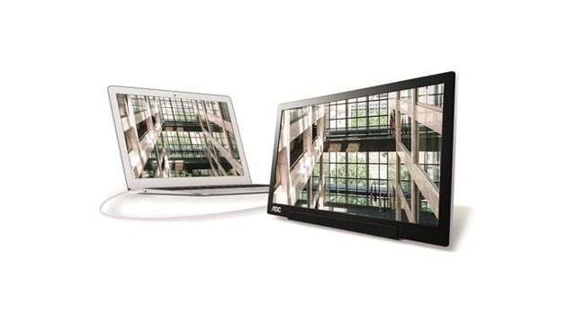 AOC I1601FWUX to poręczny monitor o przekątnej ekranu 15,6 cala ze złączem USB-C