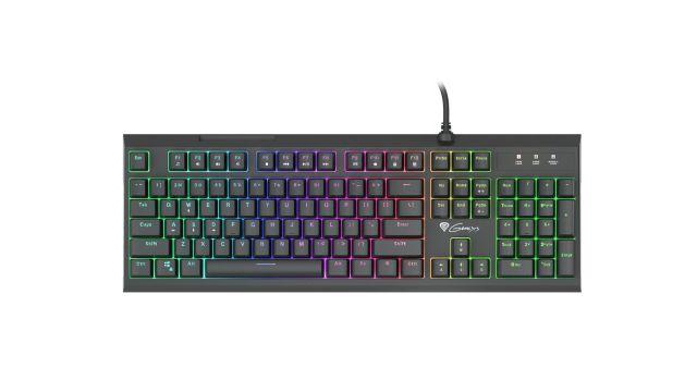 Genesis Thor 200 RGB oferuje kilka kolorów podświetlenia klawiatury