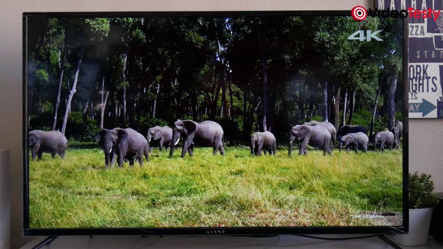 telewizor z obrazem 4k