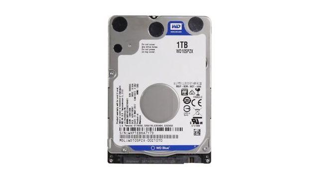 Dzięki dyskowi o pojemność 1TB zyskasz sporą przestrzeń pamięci w laptopie