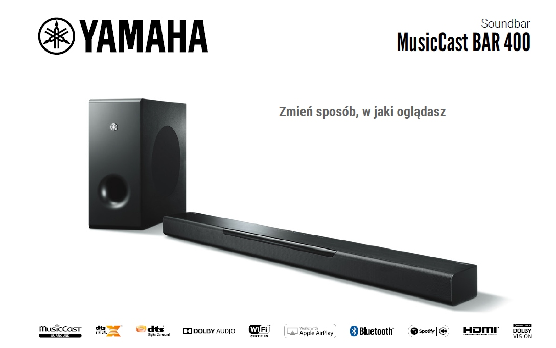 Yamaha MusicCast Bar 400 design