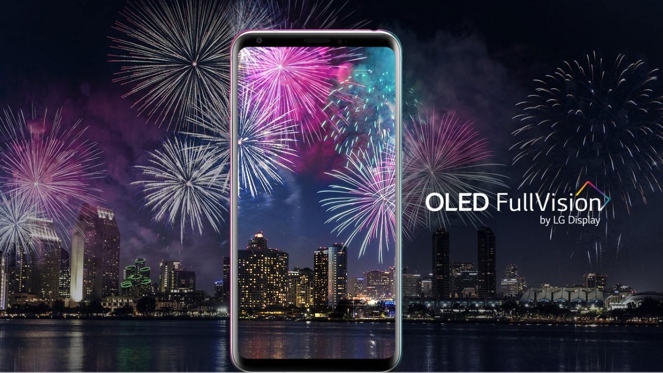 LG V30 ekran fullview