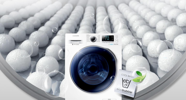 niezawodna pralko-suszarka  Samsung WD90J6A10AW z technologią Eco Bubble