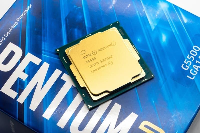 Front Procesora Intel Pentium G5500