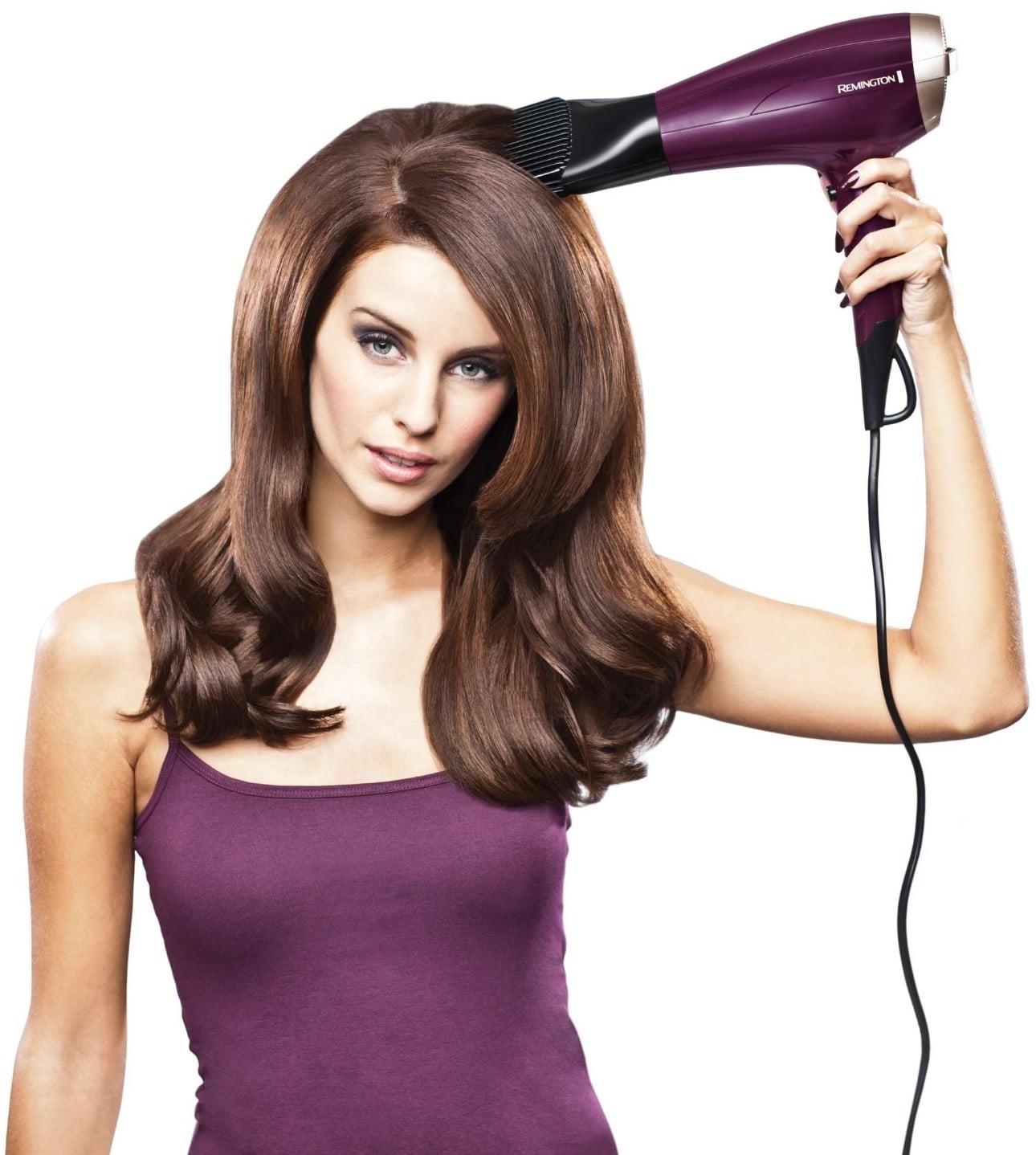 suszenie włosów za pomocą Remington D5219 Your Style