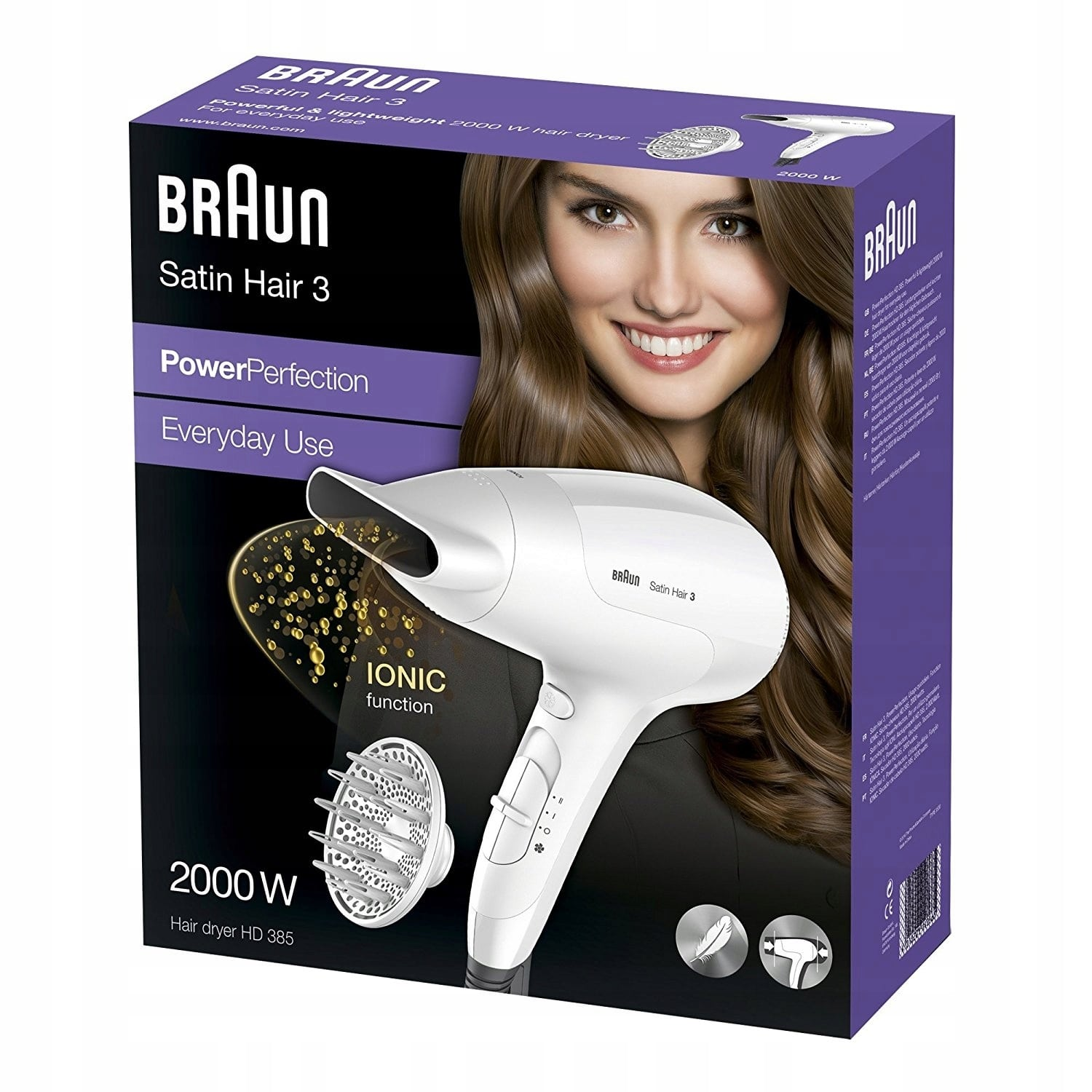 Braun Satin Hair 3 HD385 w pudełku