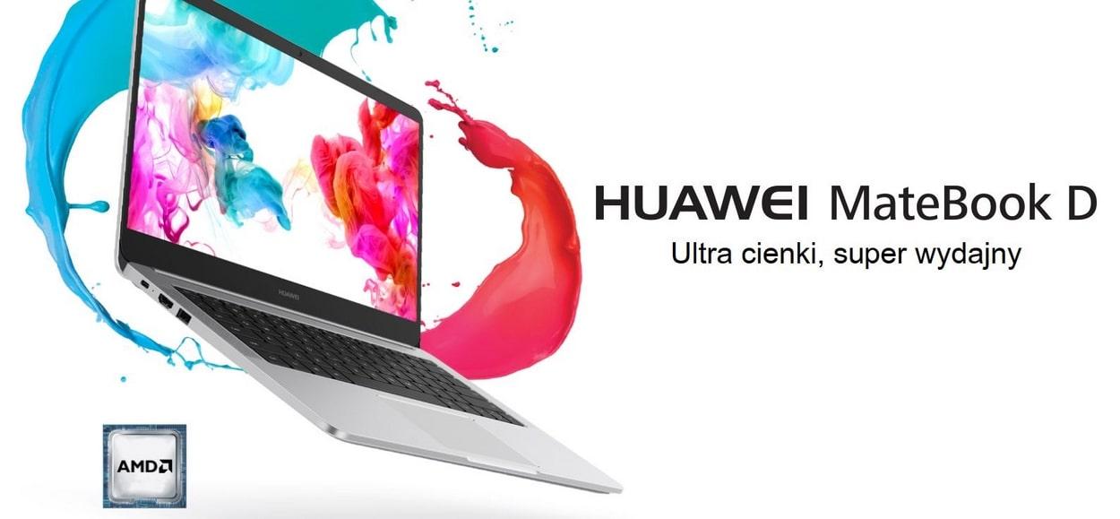 Huawei Matebook D14 Ryzen 5 jest ultracienki i bardzo lekki