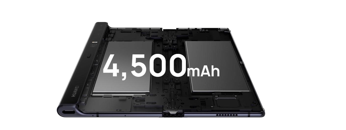 Huawei Mate X dwie baterie