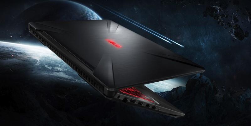ASUS FX504 wyróżnia się ciekawym designem