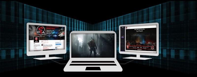 Z MSI GV62 można pracować na trzech ekranach jednocześnie