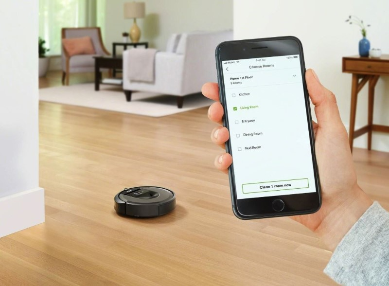 iRobot Roomba i7 jest sterowany za pomocą smartfona