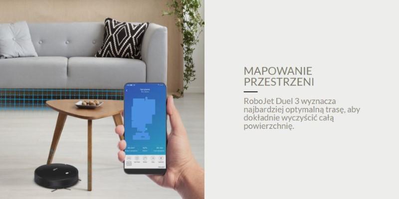RoboJet Duel 3 mapuje przestrzeń pozwalając na lepsze działanie