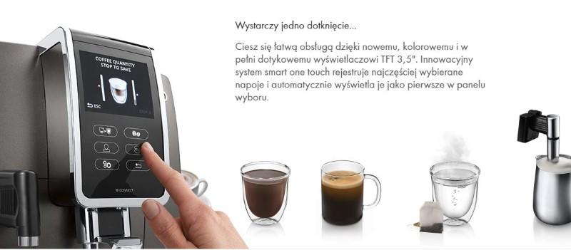 Dinamica Plus pozwoli ci za pomocą dotyku wybrać kawę