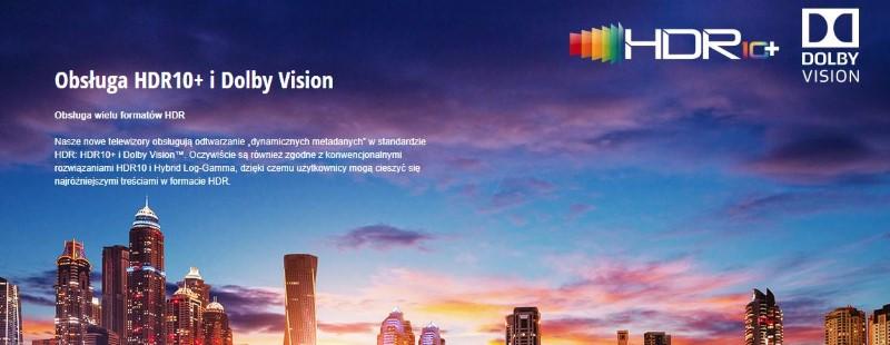 Panasonic TX-50GX830E obsługuje HDR10+ i Dolby Vision