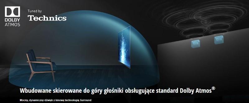 Panasonic OLED TX-65GZ2000E posiada głośniki stworzone we współpracy z Dolby