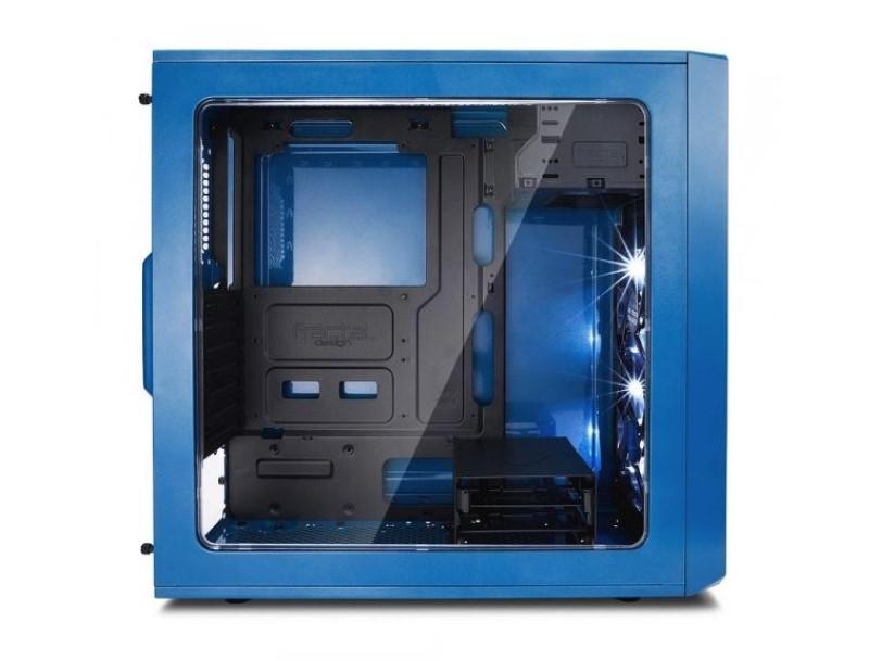 Fractal Design Focus G Niebieski ma hartowaną szybę