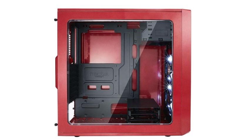Fractal Design Focus G Window Czerwony ma hartowaną szybę