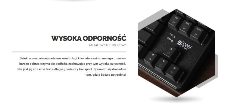 GK530 to bardzo odporna klawiatura z metalowym topem