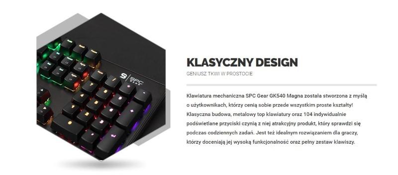 GK540 MAGNA to sprzęt o prostym designie